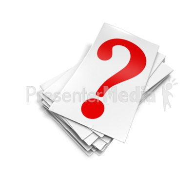 Question Mark Card Pile PowerPoint Clip Art