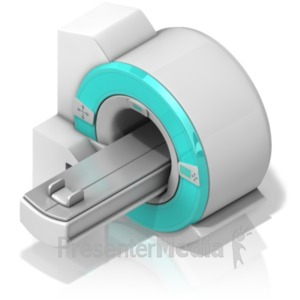 ID# 18606 - MRI machine at an Isometric Angle - Presentation Clipart