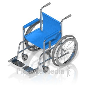 ID# 18607 - Wheelchair Isometric - Presentation Clipart