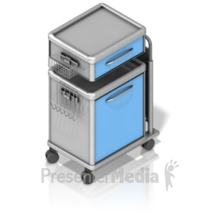 ID# 18608 - Medical Supply Cart - Presentation Clipart
