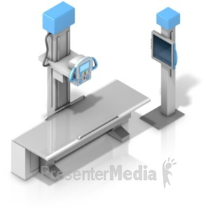 ID# 18610 - X Ray Machine Isometric - Presentation Clipart