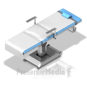 ID# 18621 - Operating Table Isometric Angle - Presentation Clipart