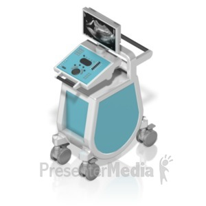 ID# 18622 - Ultrasound Machine Isometric - Presentation Clipart