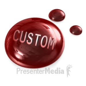 ID# 18773 - Blood Drops Custom - Presentation Clipart
