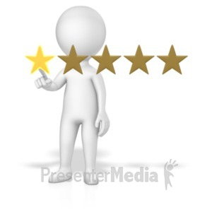 ID# 18774 - Figure 1 Of 5 Stars - Presentation Clipart