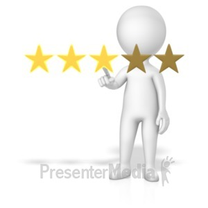 ID# 18776 - Figure 3 Of 5 Stars - Presentation Clipart