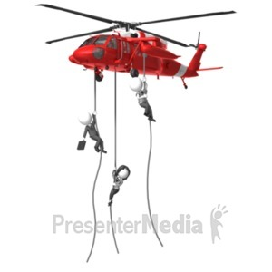 ID# 18817 - Business Rescue Helicopter - Presentation Clipart