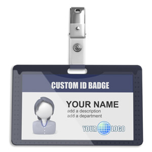 ID# 18877 - Single Id Badge - Presentation Clipart