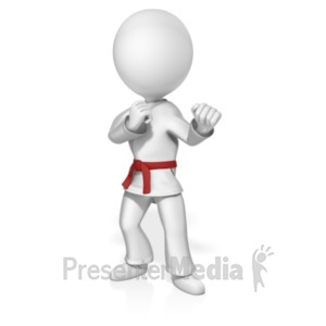 ID# 18884 - Martial Artist Custom Belt - Presentation Clipart
