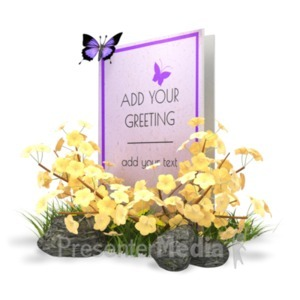 ID# 18908 - Summer Greeting Card - Presentation Clipart