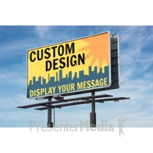 ID# 18909 - Billboard Custom - Presentation Clipart