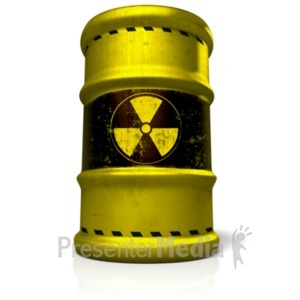 ID# 18937 - Radioactive Barrel - Presentation Clipart