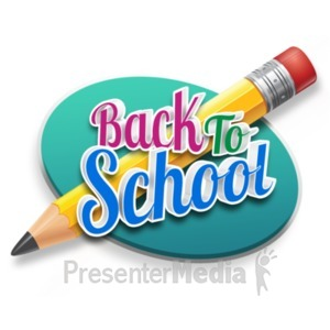ID# 18985 - Back To School Pencil - Presentation Clipart