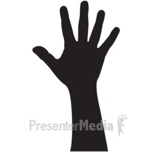 ID# 18986 - Hand Silhouette Adult - Presentation Clipart