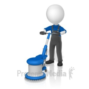 ID# 19069 - Figure Floor Buffer - Presentation Clipart