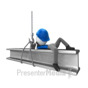ID# 19073 - Laying Down On The Job - Presentation Clipart