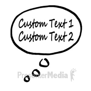 ID# 19091 - Thought Bubble Custom Text - Presentation Clipart