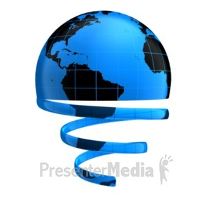 ID# 19098 - Globe Unraveling - Presentation Clipart