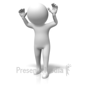 ID# 19118 - Figure Surrender - Presentation Clipart