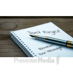 ID# 19140 - Pen Notebook - Presentation Clipart