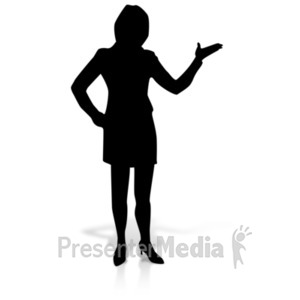 ID# 19156 - Woman Display Silhoutte - Presentation Clipart