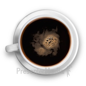 ID# 19278 - Top Of The Black Coffee Cup - Presentation Clipart