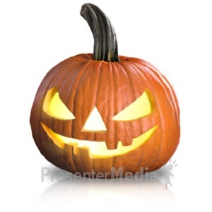 ID# 19336 - Scary Pumpkin Fun - Presentation Clipart