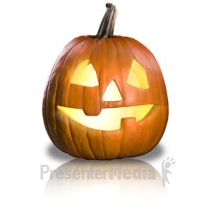 ID# 19337 - Friendly Pumpkin Fun - Presentation Clipart