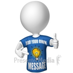 ID# 19367 - Figure In Custom Shirt - Presentation Clipart