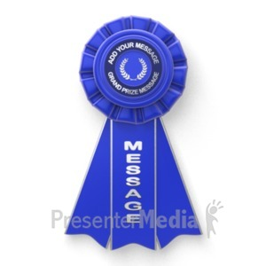 ID# 19369 - Blue Ribbon Custom - Presentation Clipart