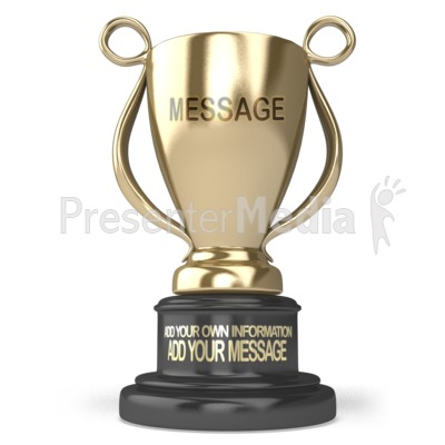 Gold Trophy Custom PowerPoint Clip Art