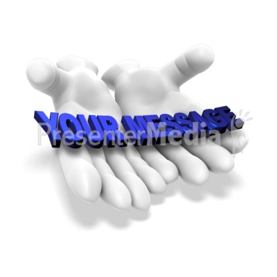 Open Hands Word PowerPoint Clip Art