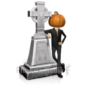 ID# 19393 - Business Halloween Grave - Presentation Clipart