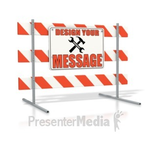 ID# 19410 - Road Sign Block Custom - Presentation Clipart