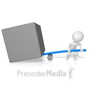 ID# 19415 - Figure Physics Leverage Right - Presentation Clipart