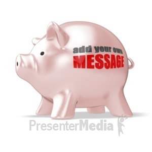 ID# 19466 - Piggy Bank Custom - Presentation Clipart