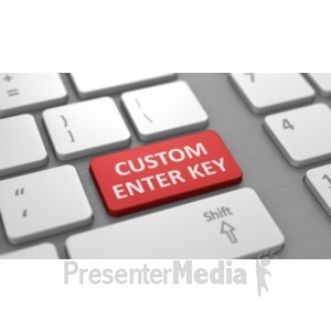 ID# 19467 - Low Profile White Keyboard Custom - Presentation Clipart