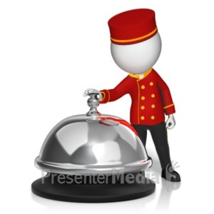 ID# 19497 - Call Bell Bellhop Ring - Presentation Clipart