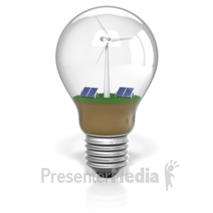 ID# 19516 - Light bulb Renewable Energy - Presentation Clipart