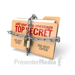 ID# 19522 - Locked Folder - Presentation Clipart