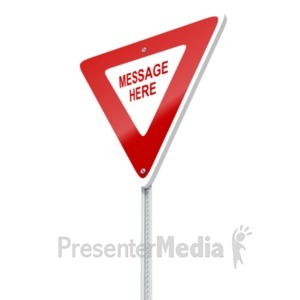 ID# 19528 - Yield Sign Custom - Presentation Clipart