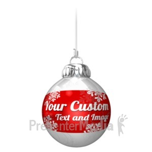 ID# 19539 - Custom Ornament On String - Presentation Clipart