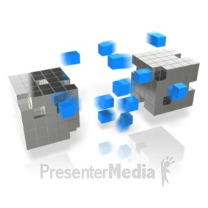 ID# 19550 - Cube Arrays Transfer - Presentation Clipart
