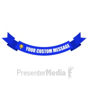 ID# 19561 - Arched Down One Layer Banner - Presentation Clipart
