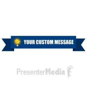 ID# 19562 - Simple One Layer Banner Reversed - Presentation Clipart