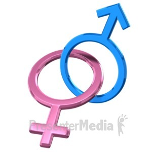 ID# 19585 - Gender Symbol Connected - Presentation Clipart