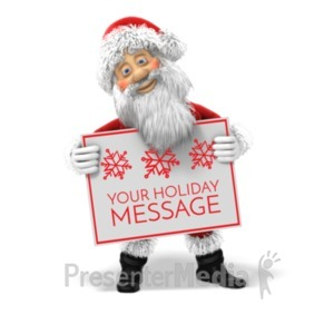 ID# 19592 - Santa Custom Sign - Presentation Clipart