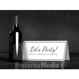 ID# 19597 - Wine Bottle Card - Presentation Clipart
