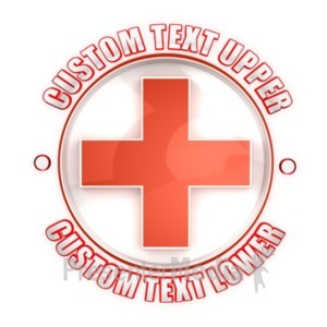 ID# 19626 - Health Cross Symbol Custom - Presentation Clipart