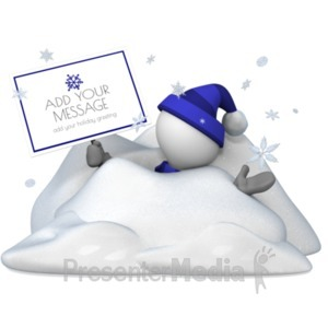 ID# 19628 - Figure Buried In Snow - Presentation Clipart